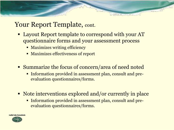 Your Report Template,
