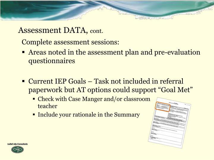 Assessment DATA,