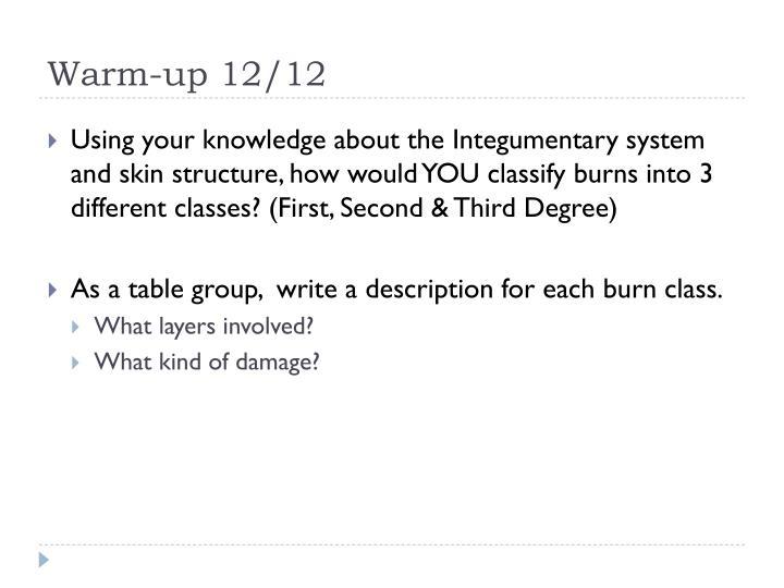 Warm-up 12/12