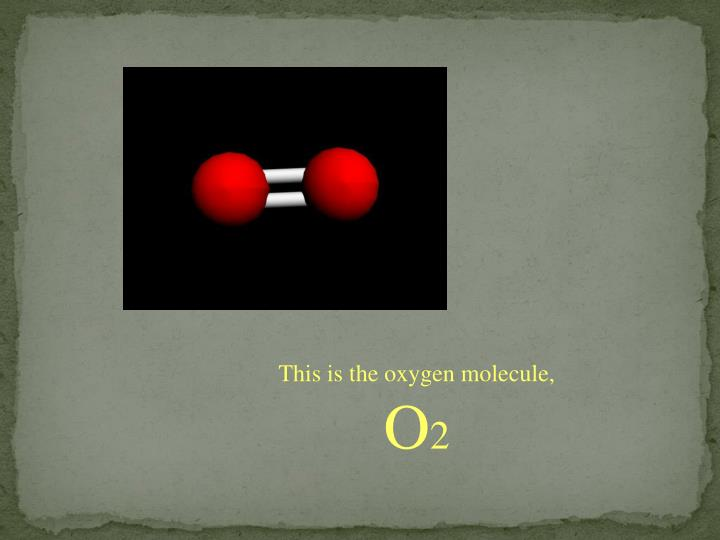 This is the oxygen molecule,