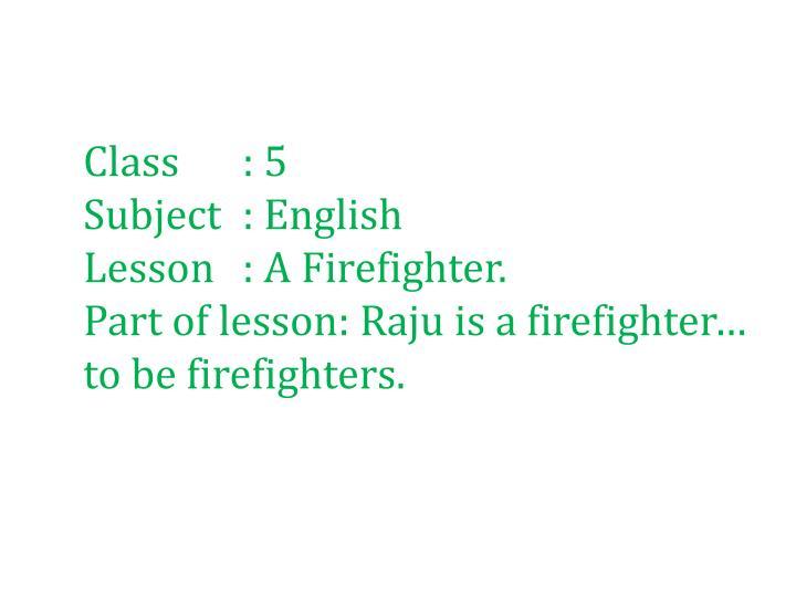 Class: 5