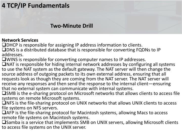 4 TCP/IP Fundamentals