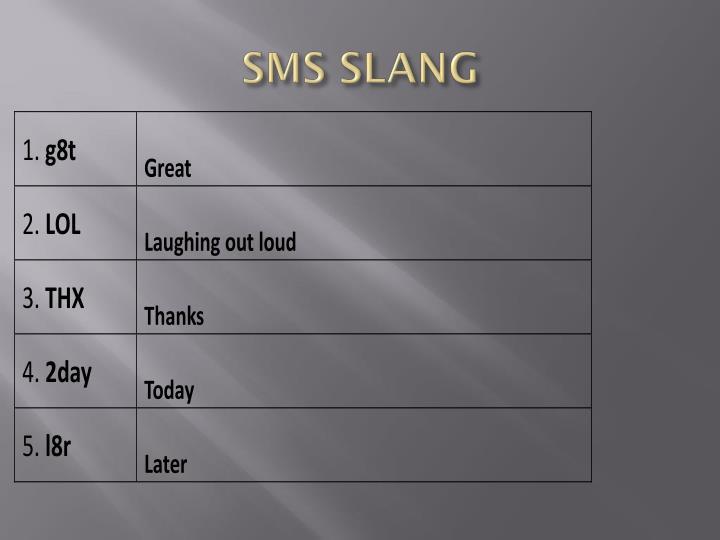 SMS SLANG
