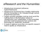 eresearch and the humanities