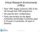virtual research environments vres