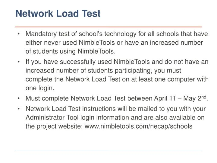 Network Load Test
