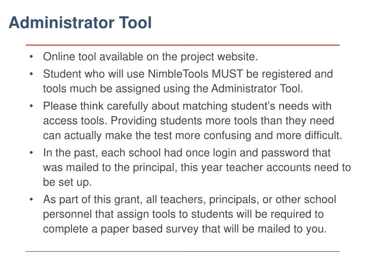 Online tool available on the project website.