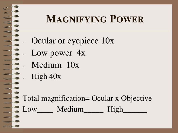 Ocular or eyepiece 10x
