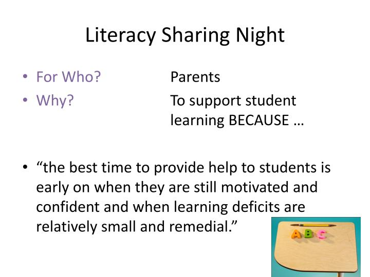 Literacy sharing night