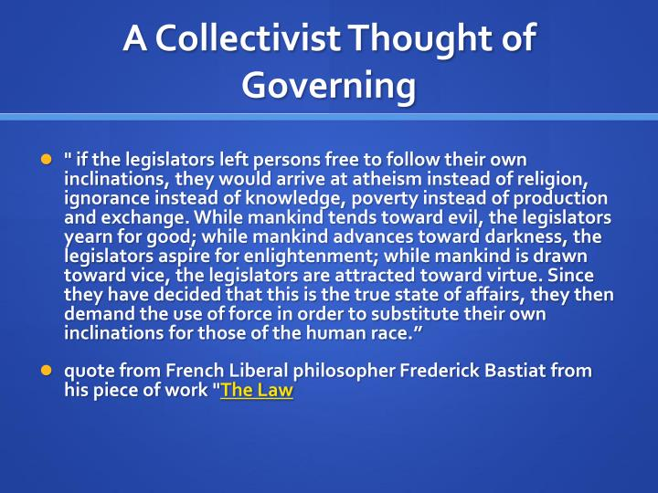A Collectivist Thought of Governing
