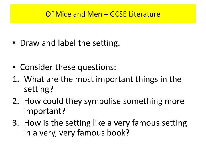 Of Mice and Men – GCSE Literature