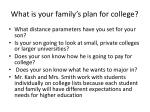 what is your family s plan for college