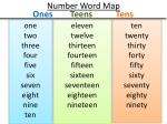 number word map