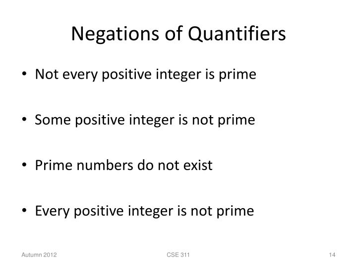 Negations of Quantifiers