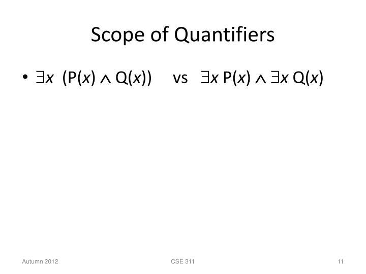 Scope of Quantifiers