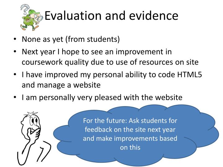 Evaluation and evidence