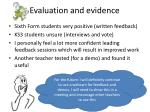 evaluation and evidence1