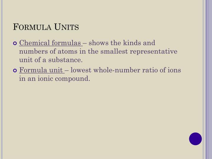 Formula Units
