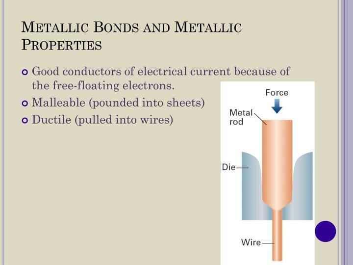 Metallic Bonds and Metallic Properties