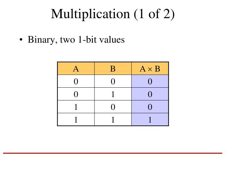 Multiplication (1 of 2)