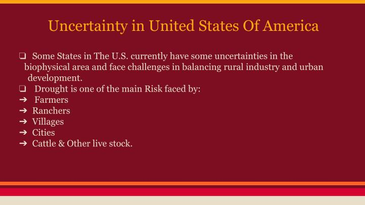 Uncertainty in United States Of America