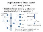 application full text search with long queries
