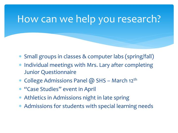 How can we help you research?