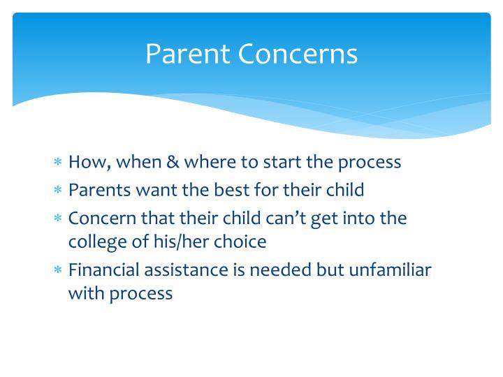 Parent Concerns