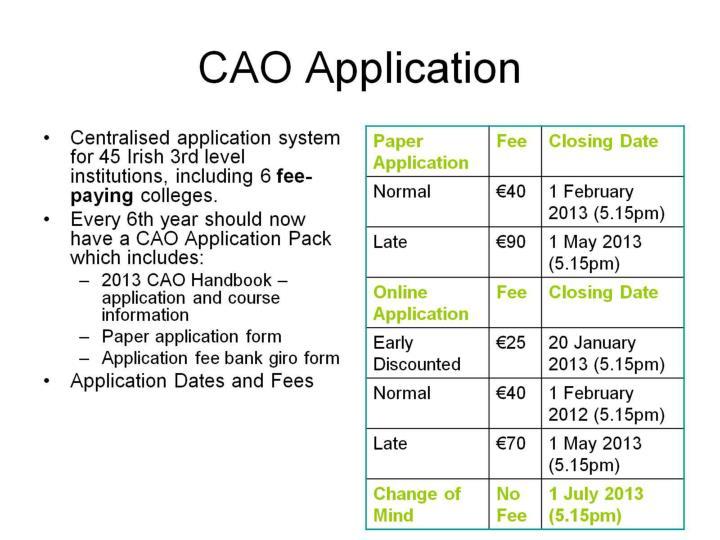 CAO Application