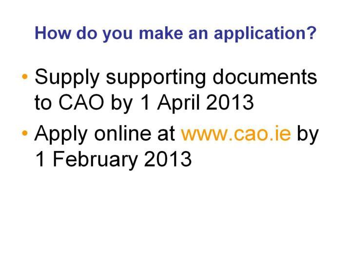 How do you make an application?