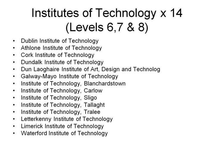 Institutes of Technology x 14