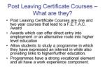 post leaving certificate courses what are they