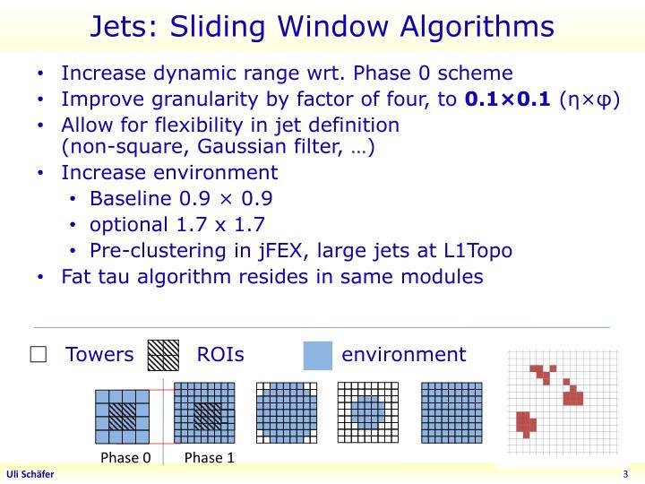 Jets: Sliding Window Algorithms