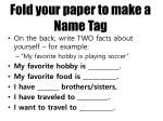 fold your paper to make a name tag
