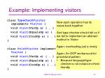example implementing visitors