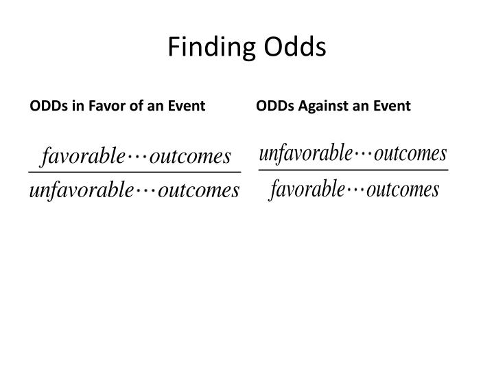 Finding Odds