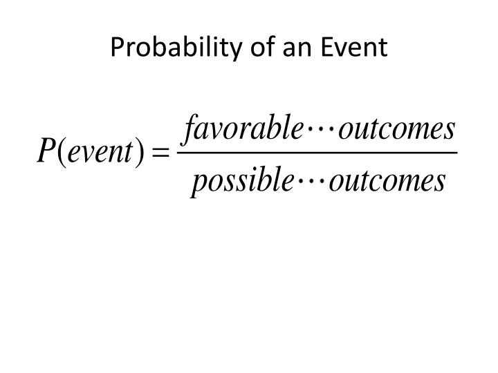 Probability of an Event