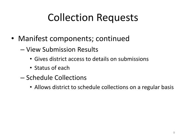 Collection Requests