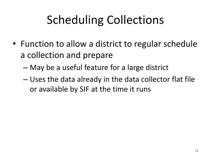 Scheduling Collections