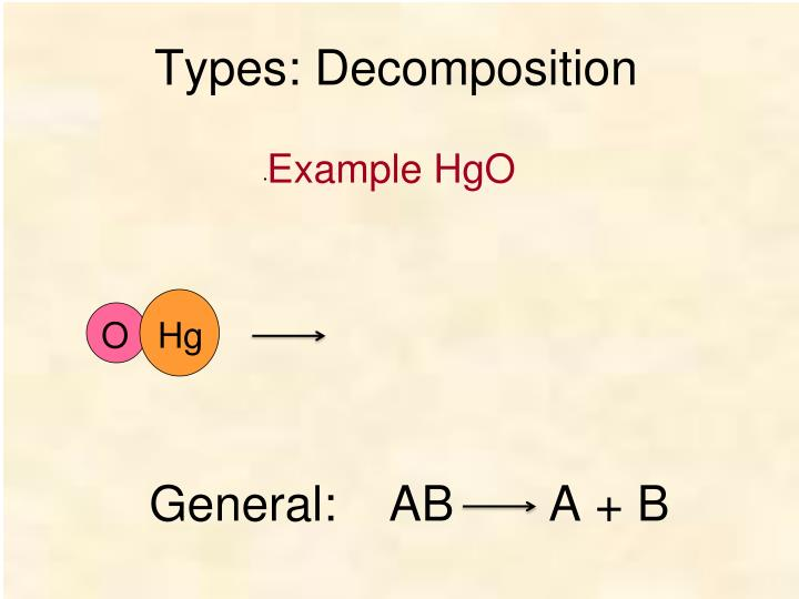 Types: Decomposition