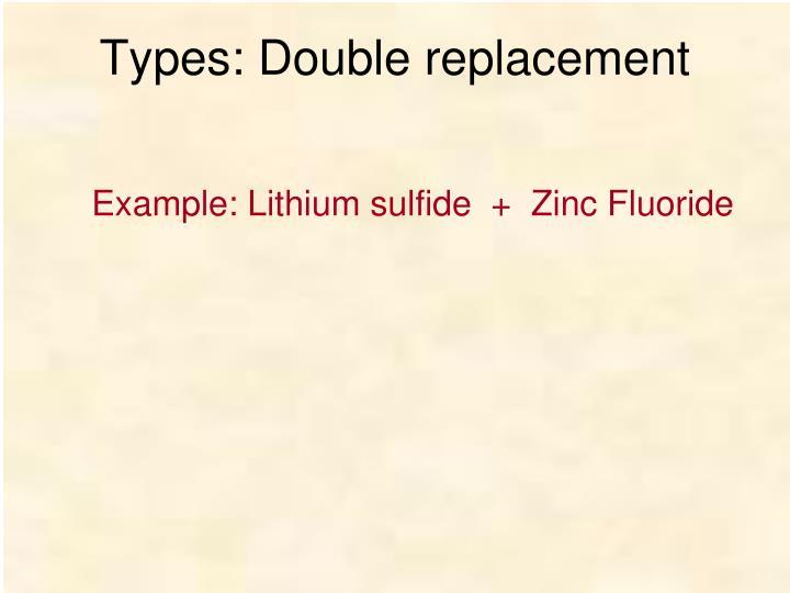 Types: Double