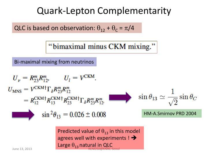 Quark-Lepton