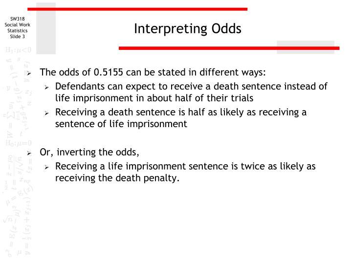Interpreting Odds
