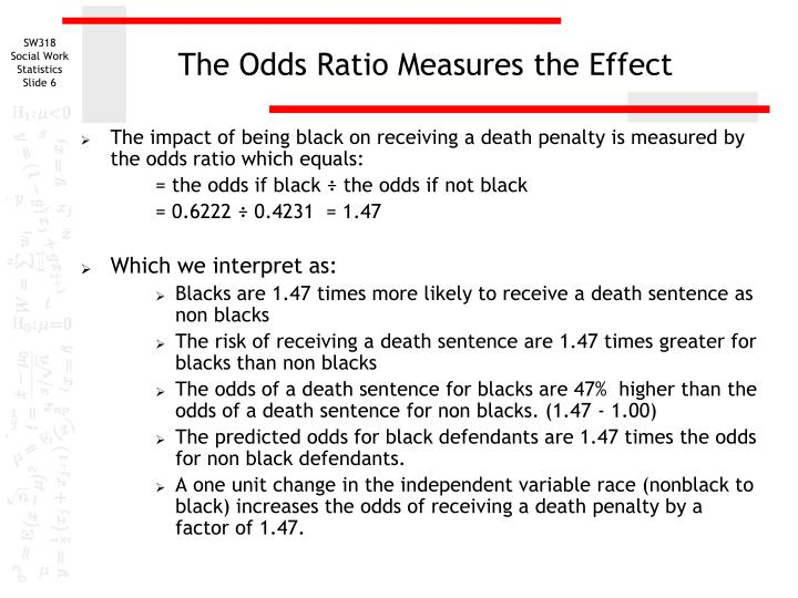 The Odds Ratio Measures the Effect