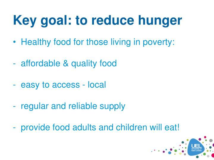 Key goal: