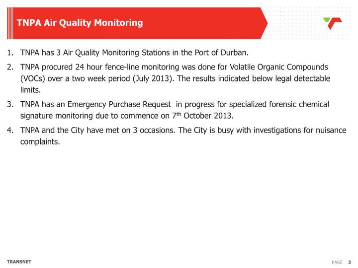 TNPA Air Quality Monitoring
