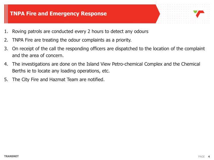TNPA Fire and Emergency Response