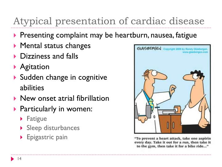 Atypical presentation of cardiac disease