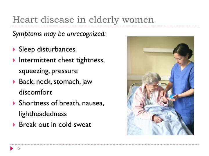 Heart disease in elderly women