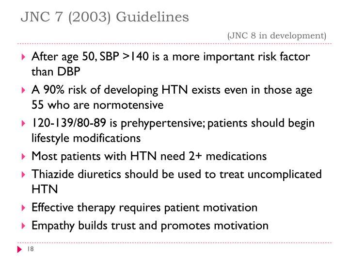 JNC 7 (2003) Guidelines